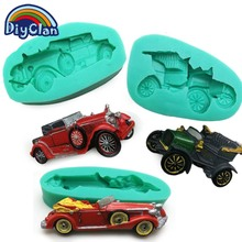Classic cars shape silicone fondant mold for cake decoration polymer clay form chocolate resin molds new cupcake baking tools