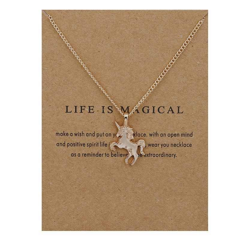 مجوهرات الأزياء الحياة هو السحرية يونيكورن بيان قلادة المرأة فتاة Chocker قلادة انخفاض الشحن