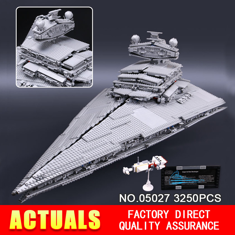 DHL LEPIN 05027 3250Pcs Star Wars Emperor fighters starship Model Building Kit Blocks Bricks Compatible 10030 Children Toys