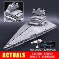 LEPIN 05027 3250 Pcs Star Wars Imperador lutadores starship Kit Modelo de Construção Blocos Tijolos Compatível 10030 Brinquedos Para Crianças