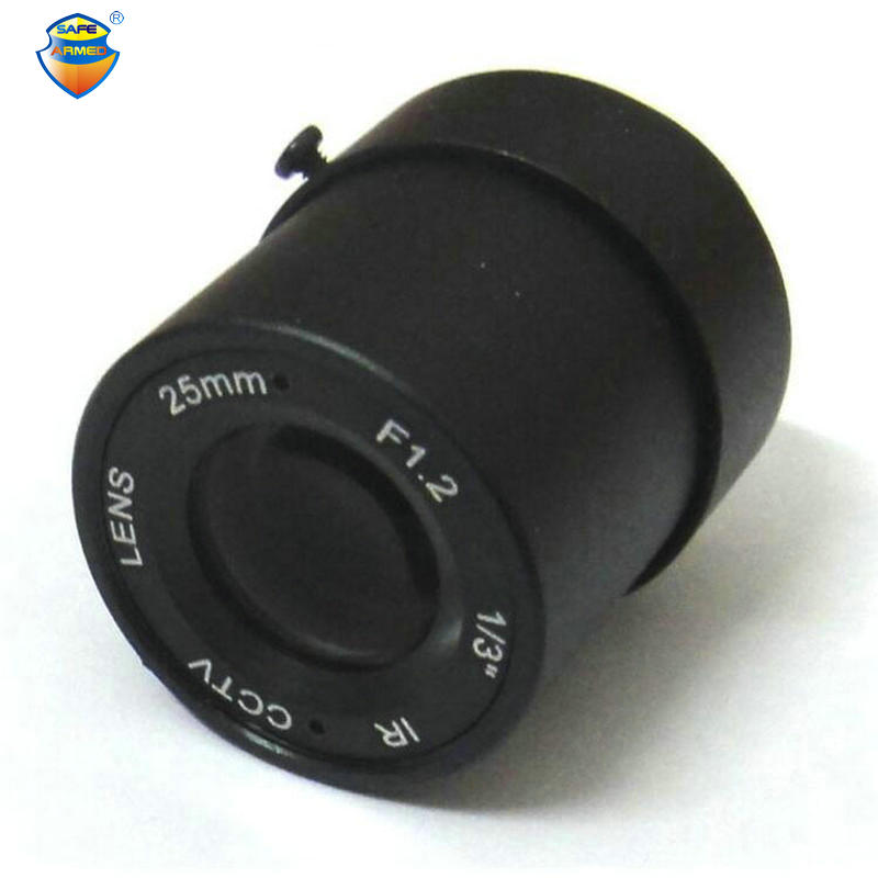 (1 PCS)  1/3 25mm CCTV Lens view 70m 11 degrees F1.2 IR Fixed Iris CS Mount for Security CCD Camera For Free Shipping 8mm 12mm 16mm cctv ir cs metal lens for cctv video cameras support cs mount 1 3 format f1 2 fixed iris manual focus