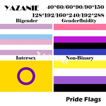 YAZANIE 288 см 192/192*240 см/160*128 см Bigender Genderfluidity Intersex Non Binary Pride флаги и баннеры ЛГБТ большой Радужный Флаг(China)