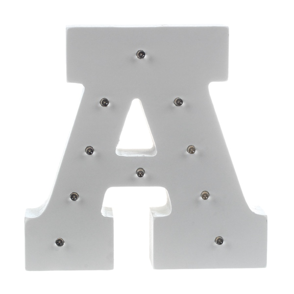 AIMA White Wooden Letter Decorative Light Wedding Party Showcase LED Spelling Light 15*13*3CM