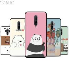 Cartoon We Bare Bears Silicone Case for Oneplus 7 7Pro 5T 6 6T Black Soft Case for Oneplus 7 7 Pro TPU Phone Cover