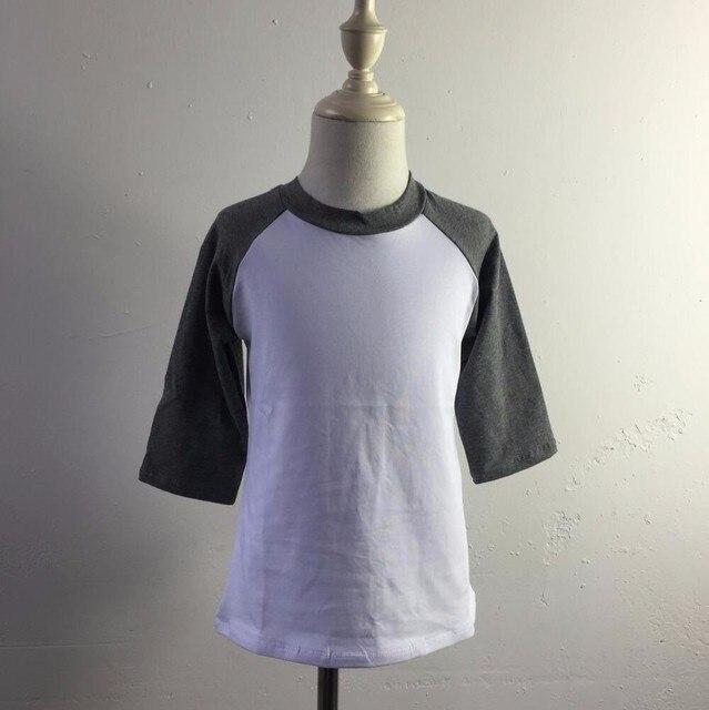T-shirt manches 100 coton | raglan uni et blanc, pour filles et garçons, en gros