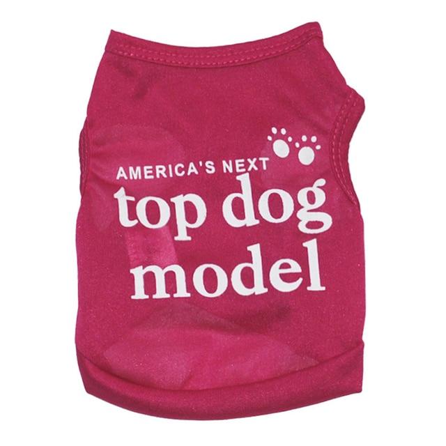 Servicio Camiseta deportiva perro superior modelo fresco respirable del verano perro chaleco camisas ropa deportiva perrito ropa para mascotas Chihuahua Dachshund