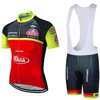 Mehl ITALIA Radfahren team Kleidung Bike jersey 12D bike shorts Ropa Ciclismo Quick Dry Herren sommer RADFAHREN Maillot Culotte set-in Fahrrad-Sets aus Sport und Unterhaltung bei