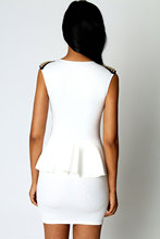 American Style Sexy Rivet Embellished Slim Clubwear