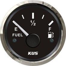 52 мм датчик уровня топлива измеритель уровня топлива 0-190 Ом сигнал черная Лицевая панель для лодки яхты универсальный автомобиль грузовик
