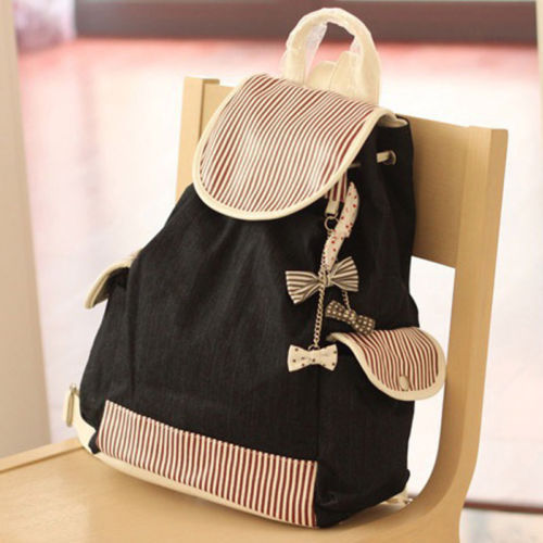 Free shipping Cute Fashion Women s Canvas Travel Satchel Shoulder Bag  Backpack School Rucksackschool bags for girls 2014 8b1e877d9