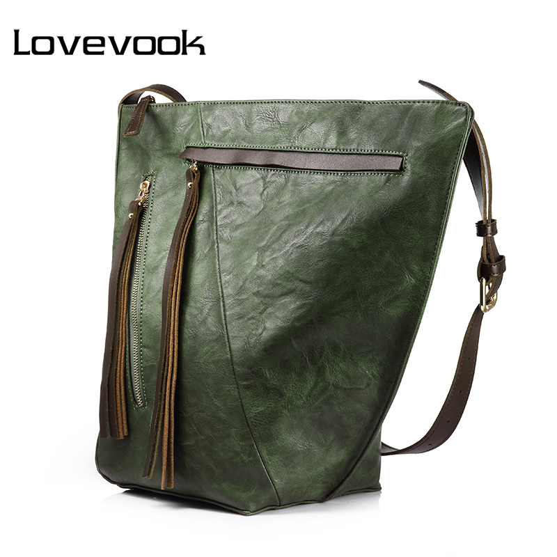 LOVEVOOK handbag female large capacity bucket bag women shoulder crossbody bag ladies messenger bags  with tassel high quality women s messenger bags ladies nylon handbag travel casual bag shoulder female high quality large capacity crossbody bags