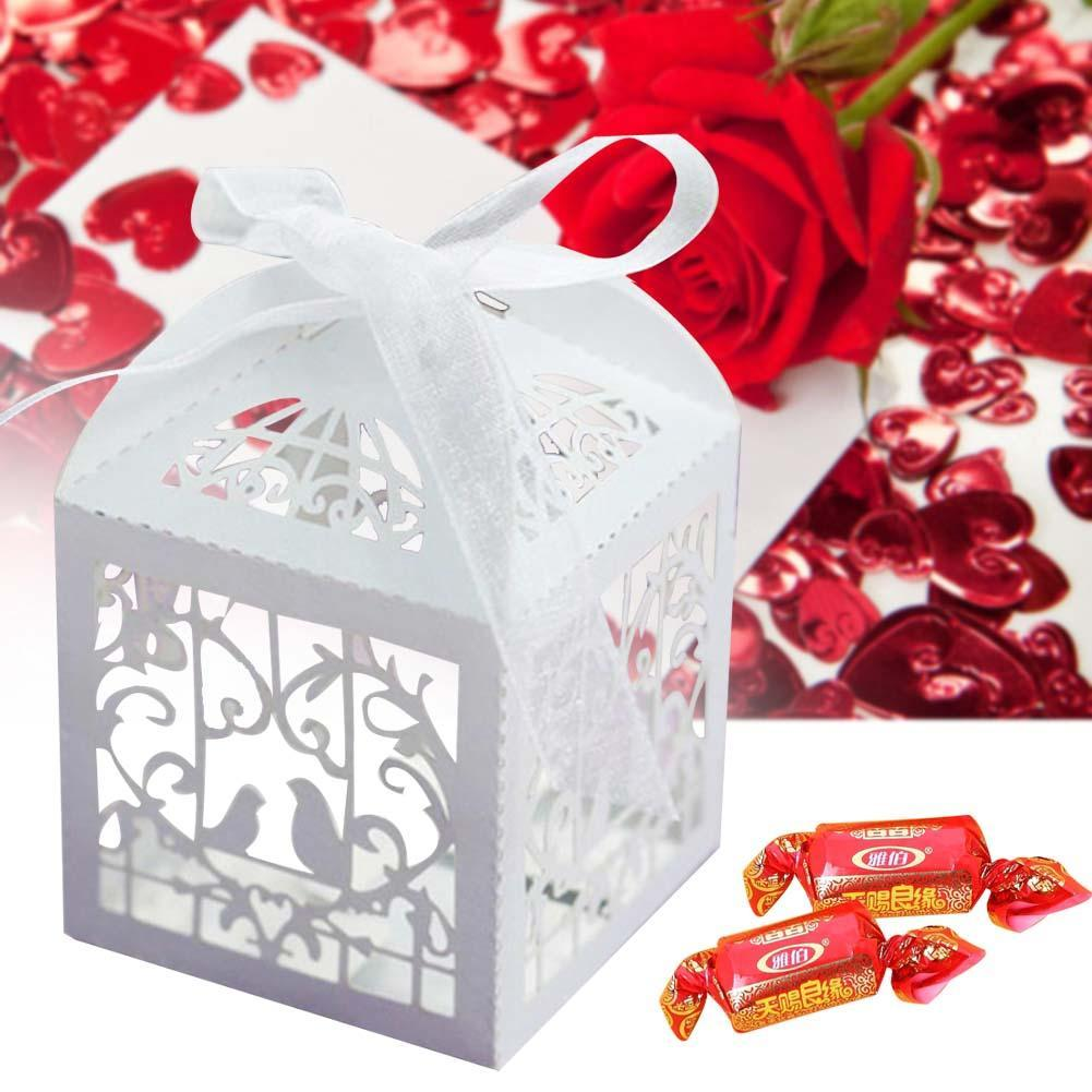 Cut Love Heart Laser Gift Candy Boxes Wedding Party Favor With ...