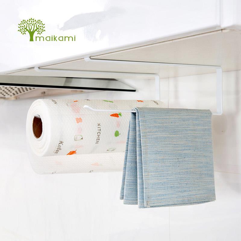 Creative Kitchen Paper Holder Hanging Tissue Towel Rack Bathroom Toilet Roll Paper Towel Holder Kitchen Cabinet