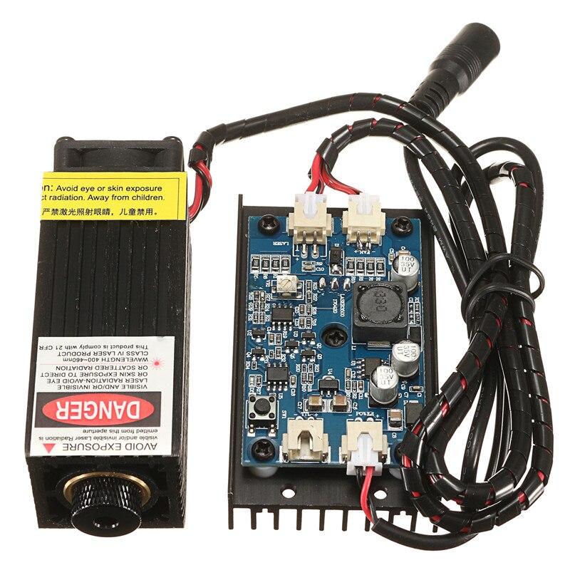 5 W/10 W/15 W/17 W cabezal láser grabado módulo 450nm luz azul marcado grabador con modulación TTL DIY madera marcado para grabador