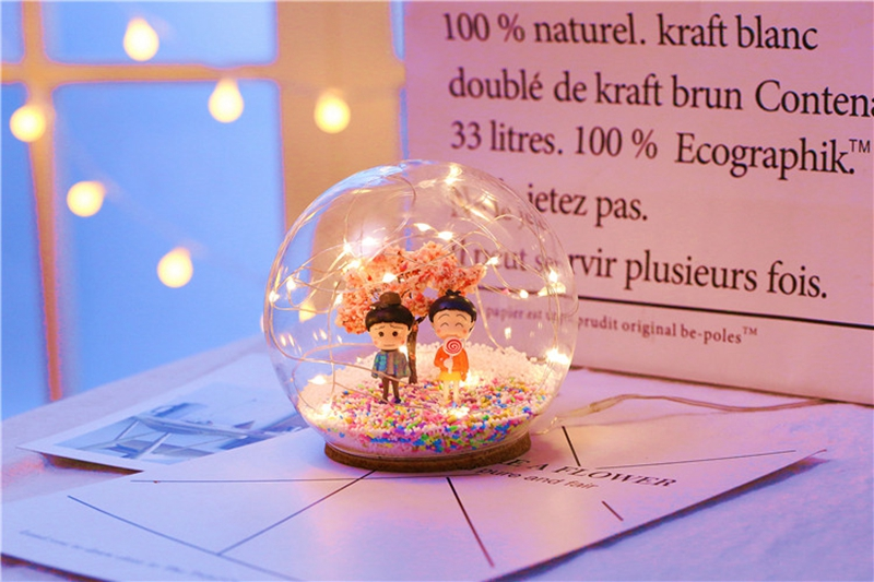 Creative LED Crystal Ball Design Table Lamp Room Decor Bedside Night Light For Girls Baby New Year Christmas Birthday Gift (13)