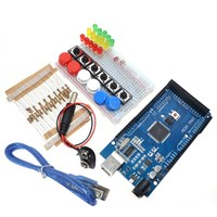 Smart Electronics Integrated Starter Kit Mega 2560 Mini Breadboard LED Jumper Wire Button For Arduino Kit
