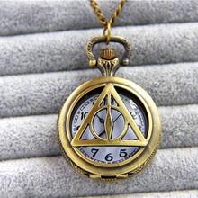 ZRM модные ювелирные изделия Винтаж Шарм Поттер Дары смерти карманные часы кулон ожерелье