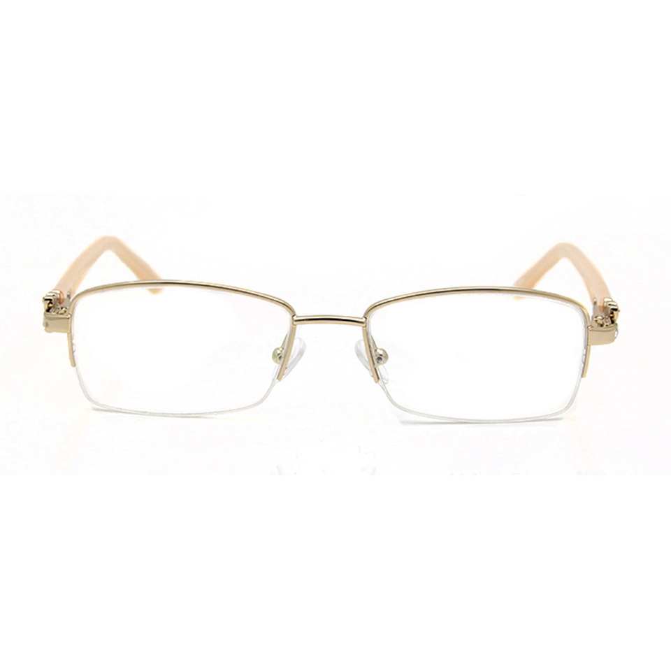 SORBERN Half Semi Rimless Glass Diamond Glasses Frame Luxury Optical Women oculos de grau feminino Women 39 s Eyewear Frame in Women 39 s Eyewear Frames from Apparel Accessories