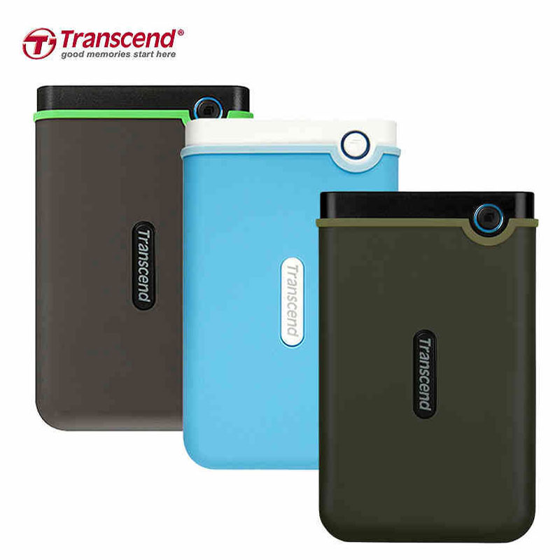 Transcend Hard-Drives HDD External Portable Usb-3.0 1TB Anti-Seismic High-Speed Ultra-Thin