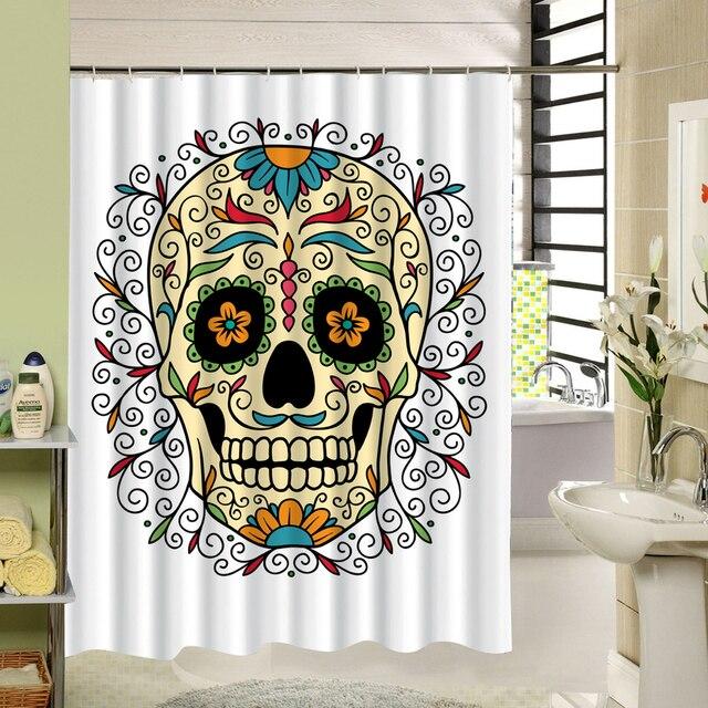 Waterproof 3D Halloween Shower Curtain Nightmare Before Christmas Ghost  Skeleton Castle Style Bath Curtains Bathroom Accessories