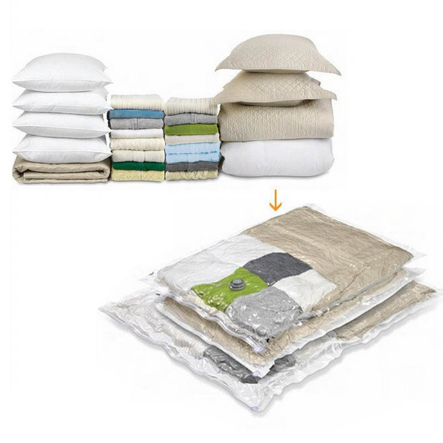 Saving Space Seal Bags Container For Clothes Vacuum Bag Transparent