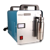 New Arrival 220V 75L H160 Oxygen Hydrogen Water Flame Jewelry Polisher Acrylic Flame Welder Machine