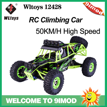Original Wltoys 12428 RC Climbing Car 1/12 2.4G 50KM/H High Speed Off-road RC Car Toy Kids gift