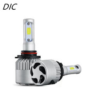 S2 DIC 2 Pcs Super Bright LED Farol Do Carro 72 W 8000LM H7 Canbus H1 H11 H4 Hi/Lo 9005 HB1 Farol Fog Light Auto Substituir HID