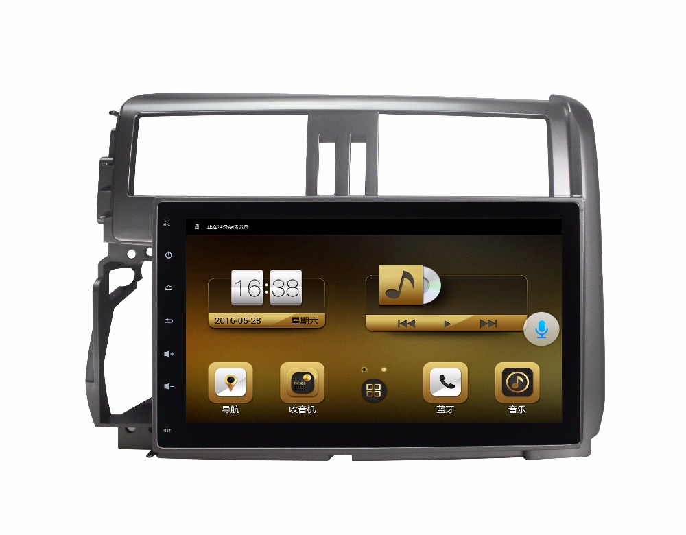 1 Gb Ram 4-kern 16 Gb Flash 9 Zoll Android 6.01 Auto Audio Für Toyota Prado 150 2010-2013 Stereo Multimedia Vedio Radio-headunit Pc