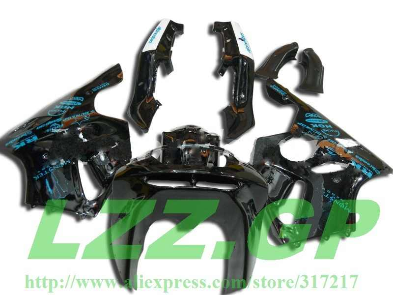 LZZ.GP freecustom black fairings For KAWASAKI NINJA ZX6R 94-97 ZX-6R ZX 6R 94 95 96 97 ABS ZX 6R 1994 1995 1996 1997 fairing set