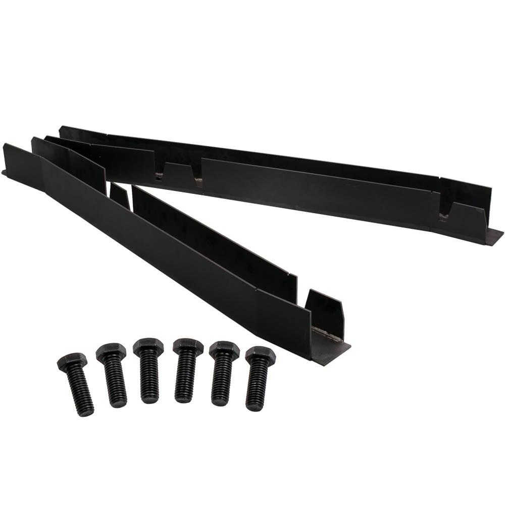 Pair Center Skid Plates Rust Repair Frame Rh Lh For Jeep