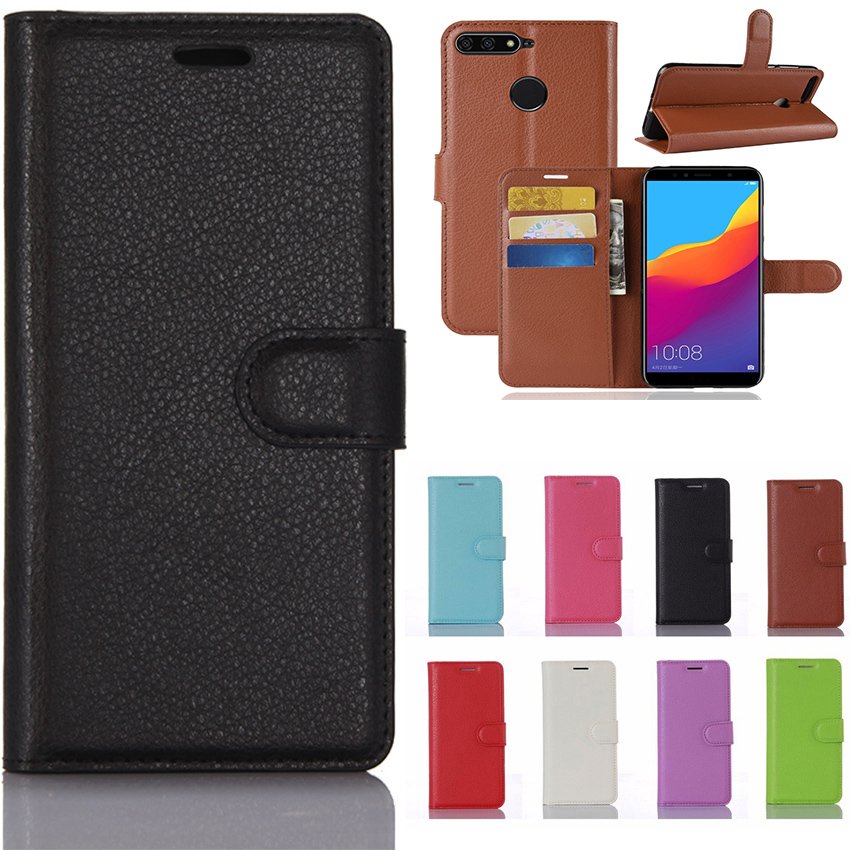Luxury Leather Case For Huawei Honor 7A Pro Case Flip back Cover Phone Case For Huawei