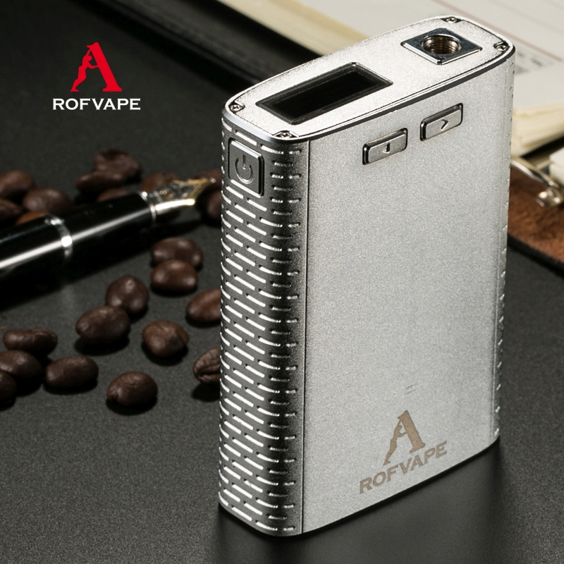 ФОТО A Box 150w Box Mod Sub ohm 2 x 18650 Battery Mod B05 (Silver/Black/Gold)