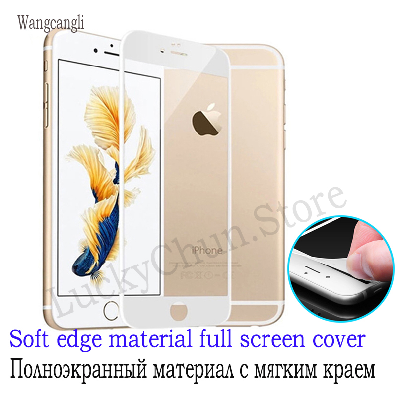Wangcangli 3d Protective Glass For IPhone 6 6s 7 8 Plus Tempered Glass For Iphone 6 S 7 Plus Protection For IPhone 6 7 8 6s Plus