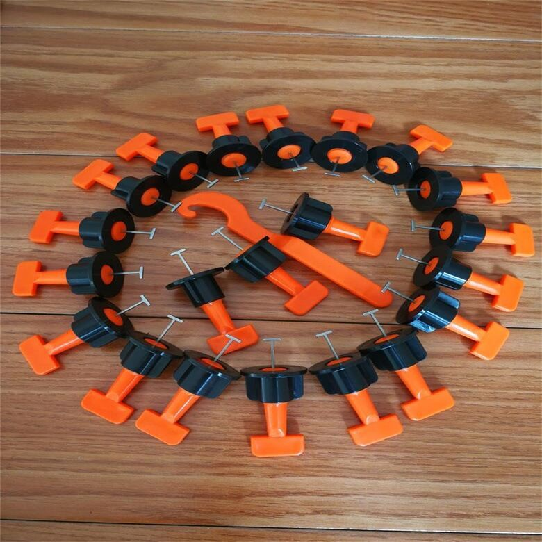 50Pcs/set Reusable Flooring Wall Tile Leveling System Leveler Plastic Clip Adjustable Locator Spacers Plier Level Wedges