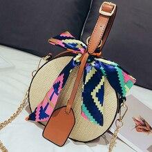 d8fa6dae2 Bolso de playa para mujer, bolsos para colgar de verano, bolso tejido  redondo para