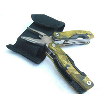 Outdoor gadget Small camouflage folding pliers camping gadgets multifunctional tools plier