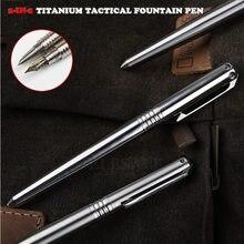 Stylo-plume tactique 2 en 1 en titane de haute qualité, outil d'auto-défense, brise-verre d'urgence, survie en plein air, EDC, cadeau de noël