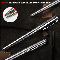 High Quality 2 IN 1 Titanium Tactical Fountain Pen Self Defense Emergency Glass Breaker Outdoor Survival EDC Tool Christmas Gift