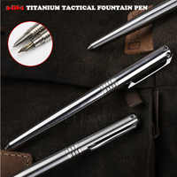 High Quality 2-IN-1 Titanium Tactical Fountain Pen Self Defense Emergency Glass Breaker Outdoor Survival EDC Tool Christmas Gift