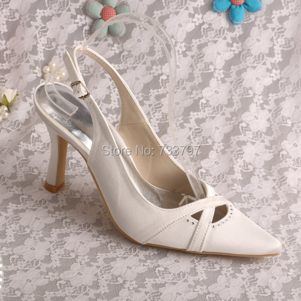 Wedopus New Design Wedding Shoes Pointed Toe Heel Thin Heel Shoe Lace Pumps