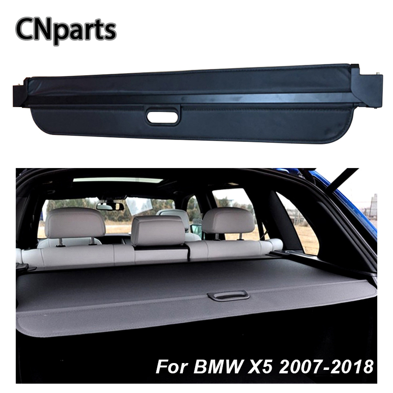 CNparts Car Rear Trunk Cargo Cover For BMW X5 E70 F15 2007 2018 Car Styling Black Security Shield Shade Auto accessories