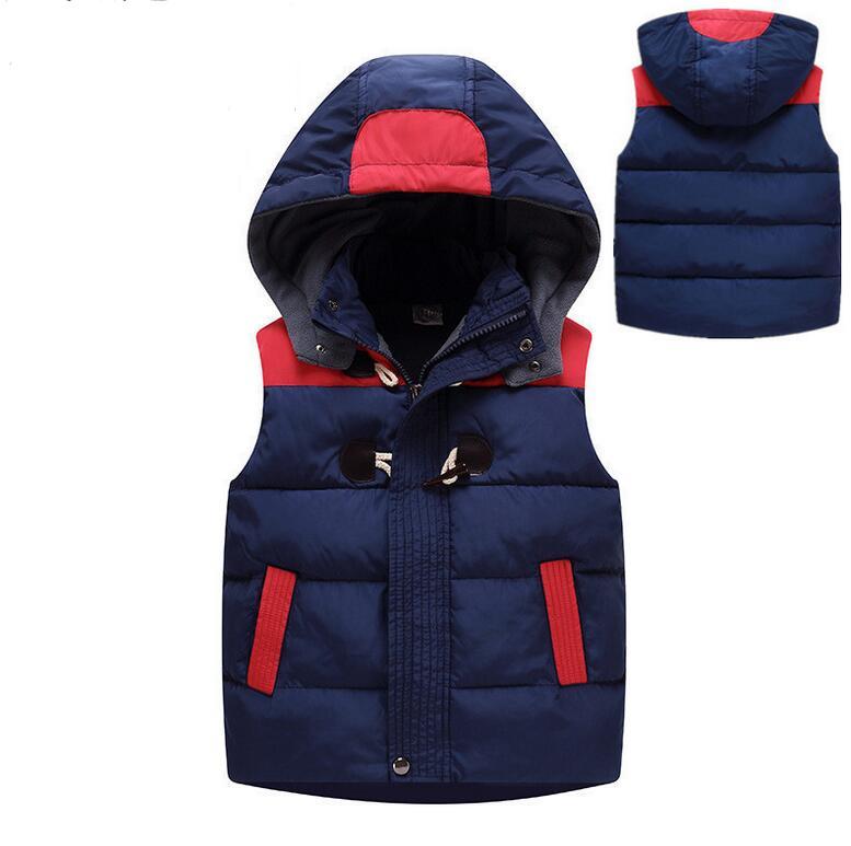 winter children hooded warm vest kids cotton padded thicken waistcoat kids outwears vest boy girls jacket tops baby kids clothes