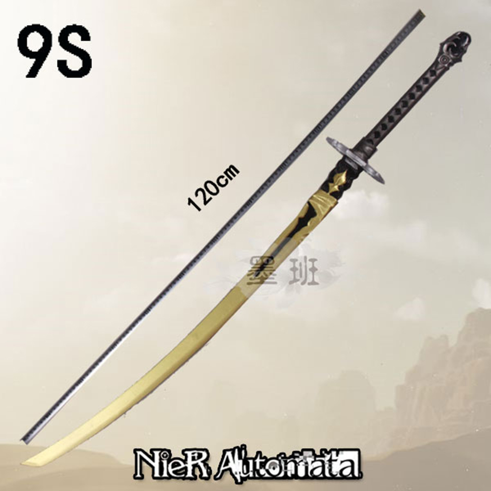 Nier Automata Yorha Type A No 2 And No 9 Type S Wooden Sword Stage Performance Props For Costume Party And Chrismas New Year