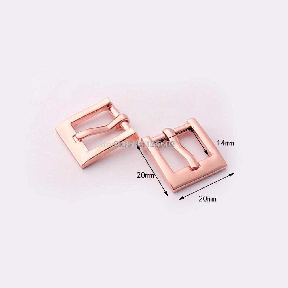 6 adet/grup 20*20mm Gül altın rengi metal Pin toka Kemer Toka Askısı sırt çantası konfeksiyon aksesuarları