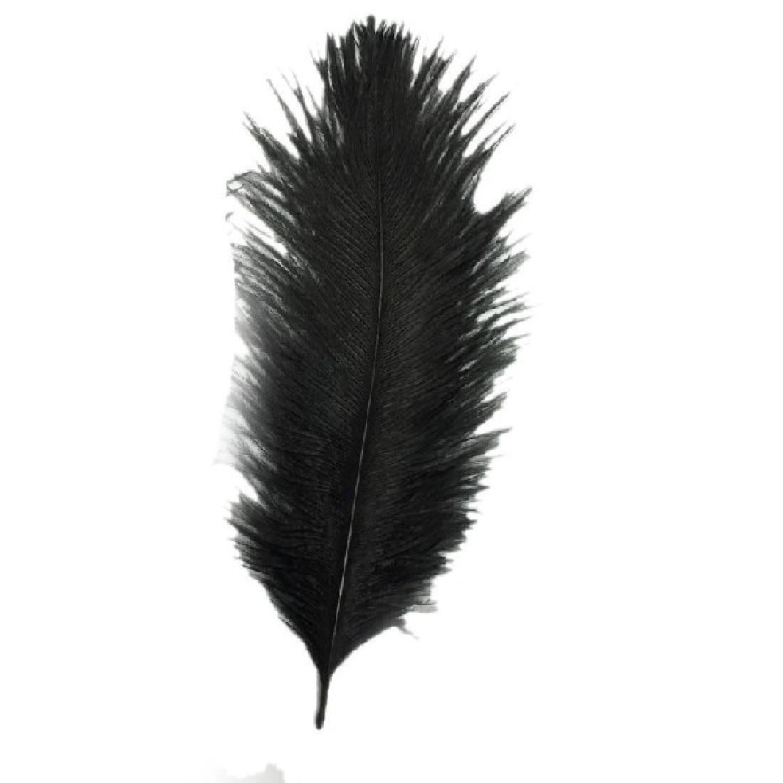 White craft feathers bulk - Free Shipping Hotsale 10pcs Beautiful Ostrich Feather 15 20 Cm Wedding Decoration Party Plumage Decorative
