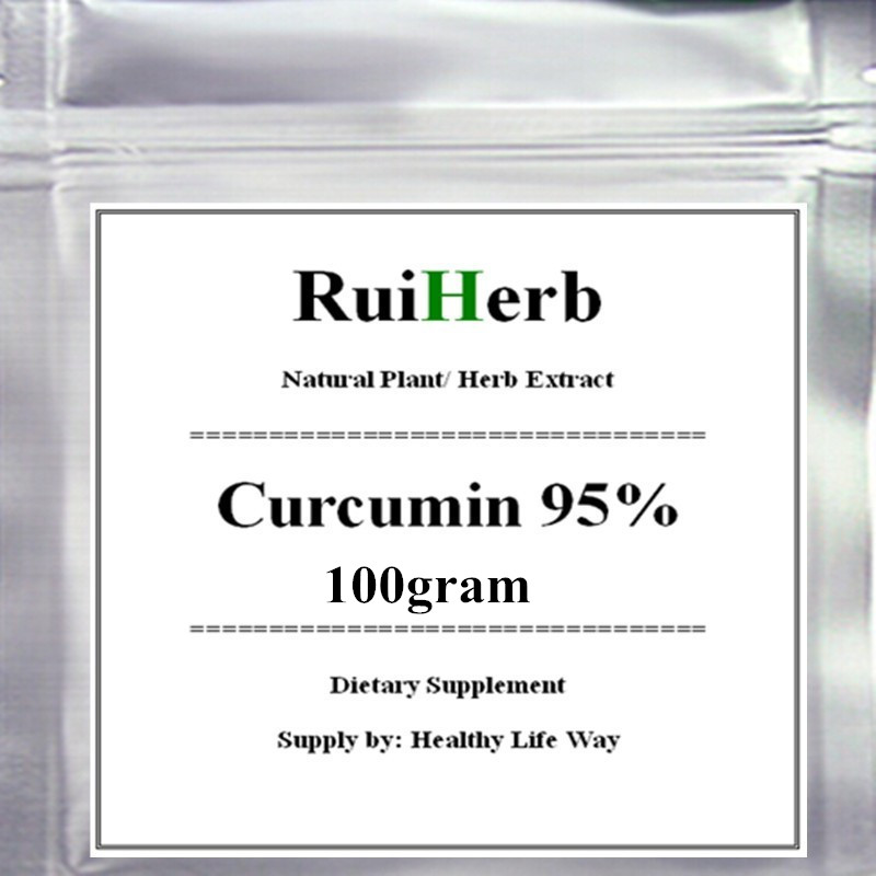 100gram Curcumin 95% Extract Powder free shipping gmp manufacture natural cucumber extract powder 1kg bag free shipping