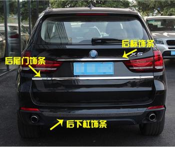 High quality Rear Bumper Trunk Door Lid Molding Cover Trims For BMW X5 F15 2014 2015 2016 2017 2018