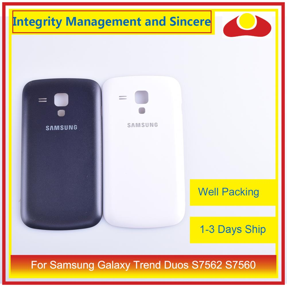 10 teile/los Für <font><b>Samsung</b></font> Galaxy Trend Duos S7562 <font><b>7562</b></font> S7560 7560 Gehäuse Batterie Tür Hinten Rückseite Fall Chassis Shell image
