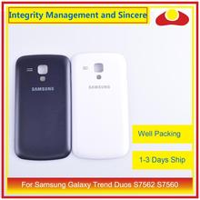 10Pcs/lot For Samsung Galaxy Trend Duos S7562 7562 S7560 7560 Housing Battery Door Rear Back Cover Case Chassis Shell
